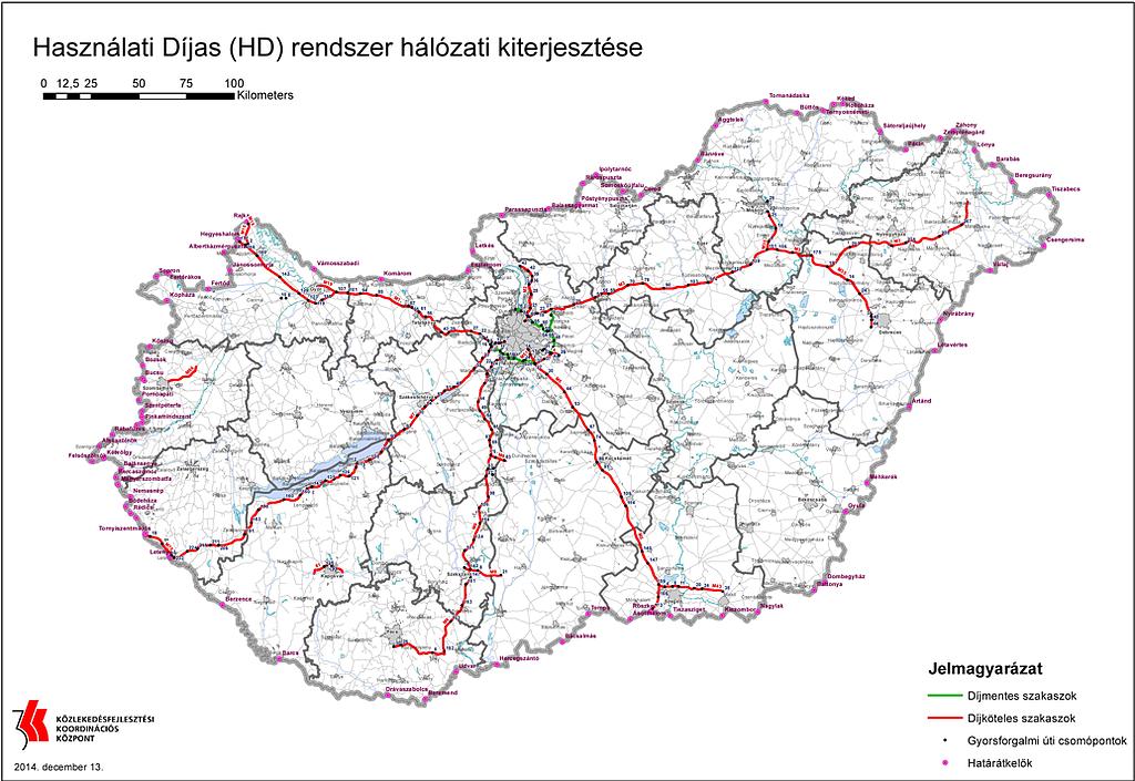 megyehatár térkép Fizetős M0 és egyéb utak: íme a térképek és a büntetések!   Napi.hu