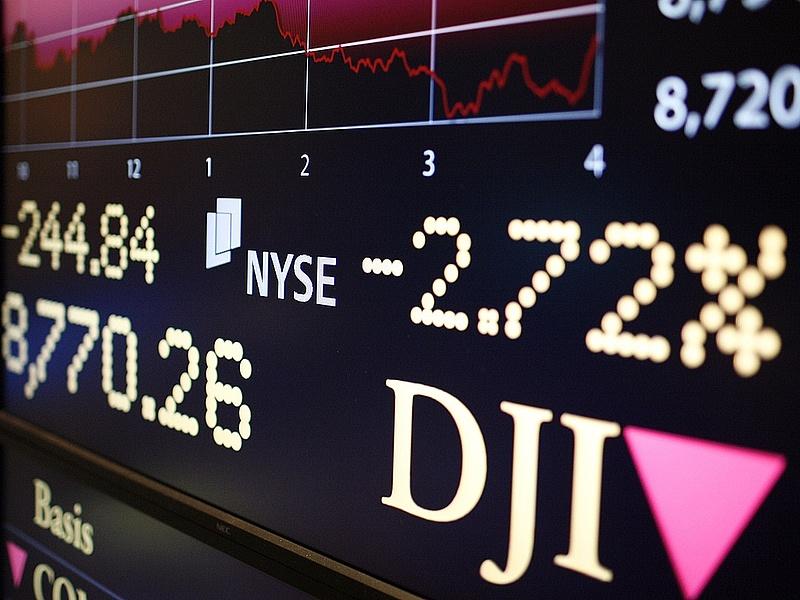 Megtört az emelkedés a Wall Streeten