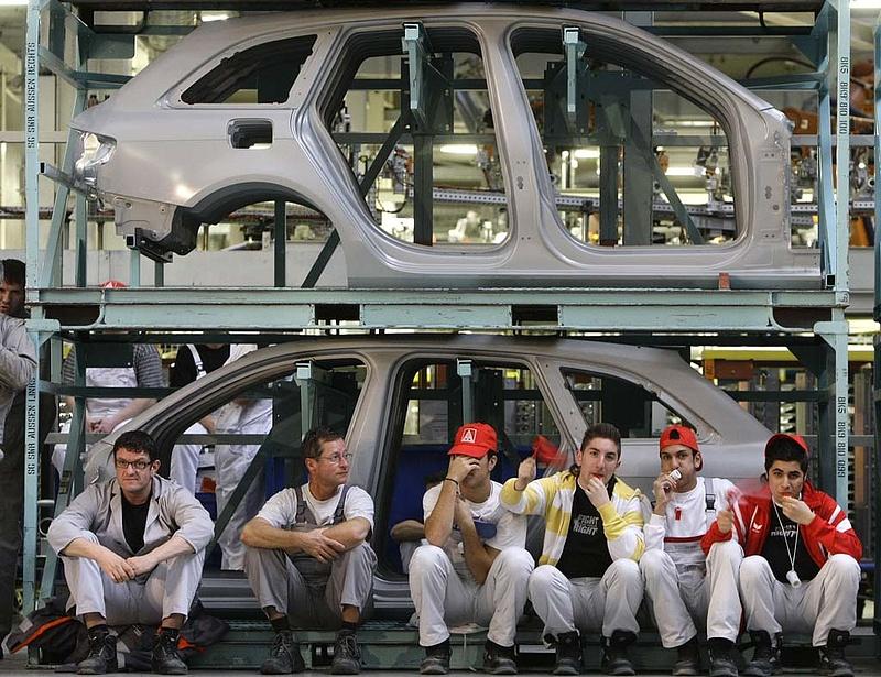 Visszaesett a német ipari termelés decemberben