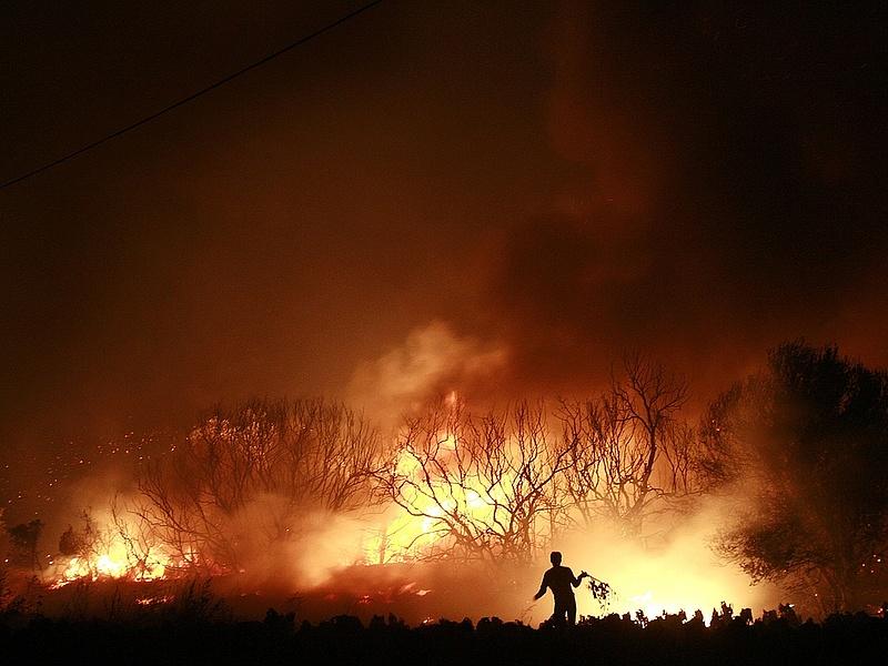 Tűzveszély az ország középső részén