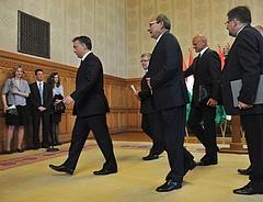 Vezető bankárokkal tárgyalt Orbán