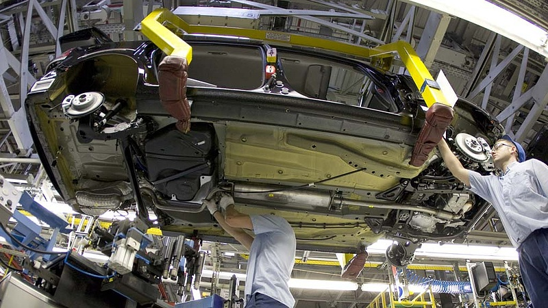 Kényszerszünet egy német Opel-gyárban