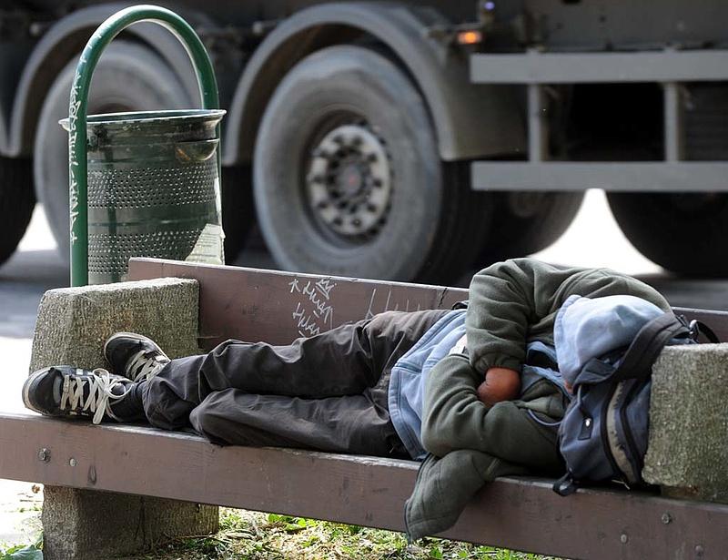 Nagyon sok a hajléktalan Magyarországon
