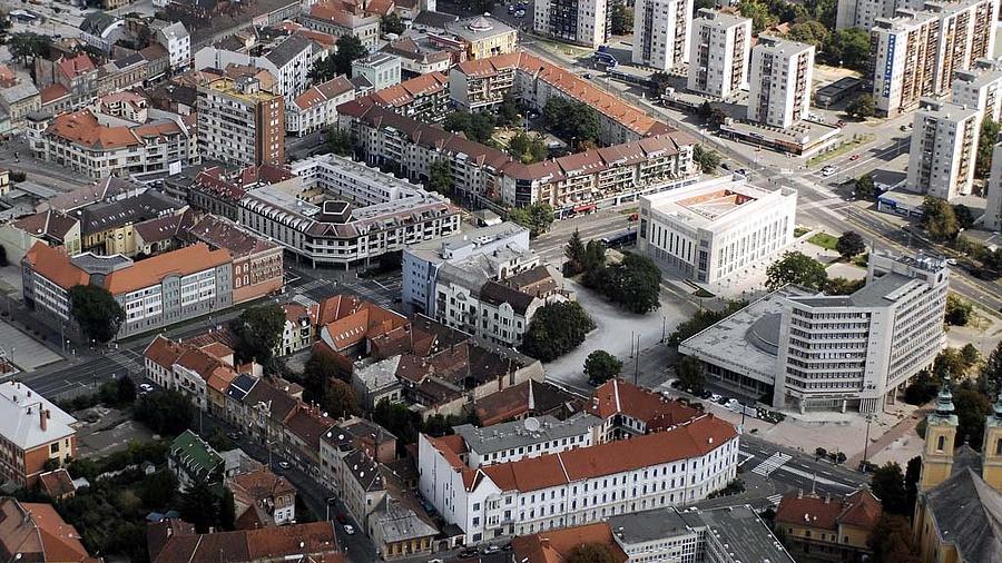 Miskolc belvárosa.