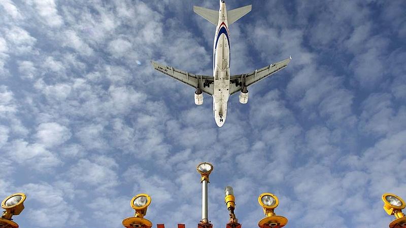 Robbanás előtt a légiforgalom