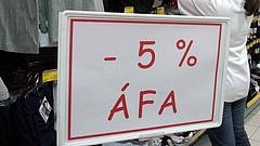 Áfacsökkentés: trükkös az 5 százalékos kulcs bevezetése