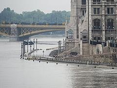 Már 7,5 méteres a Duna Budapesten