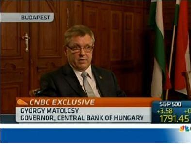 Matolcsy újra a CNBC-n (bővített)