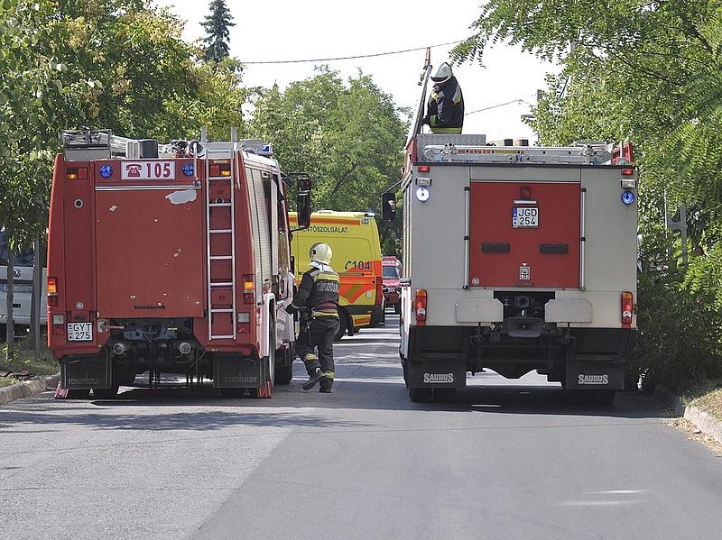 Ház lángolt Budapest szélén - menekítették az embereket