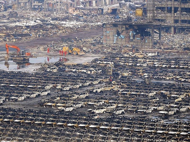 Tiencsin: újabb tüzeket jelentettek a veszélyzónából