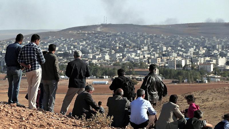 A törökök lövik Észak-Szíriát