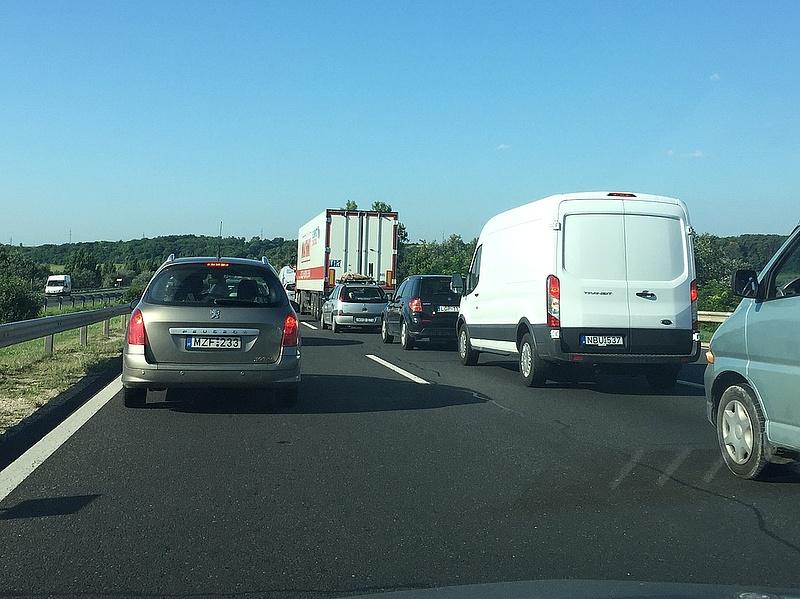 Teljes útzár volt az M7-es autópályán (frissítve)
