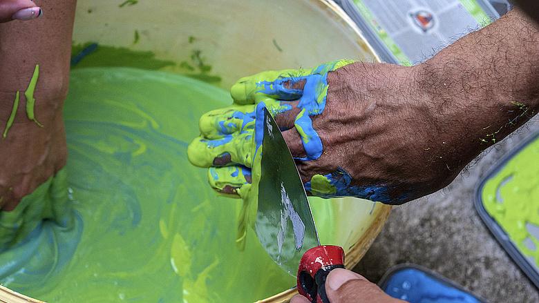festő, festék,