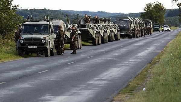 Katonai konvoj közlekedik csütörtök-pénteken többfelé az utakon