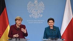 Nagy egyetértés Merkel és Szydlo között - fenn kell tartani a Moszkvával szembeni szankciókat