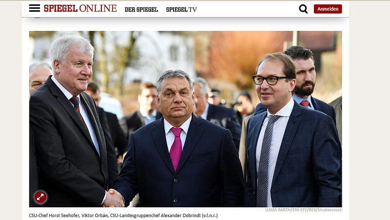 Német lapok kritikusan írtak Orbán Viktor bajorországi látogatásáról