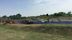 Nézők sérültek meg egy magyar roncsderbin