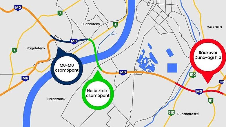 m0 felújítás térkép M0 felújítása   fellélegezhetnek az autósok, de mérik majd a