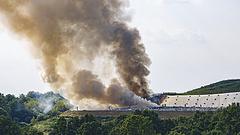 Lángol egy kanizsai hulladéktelep