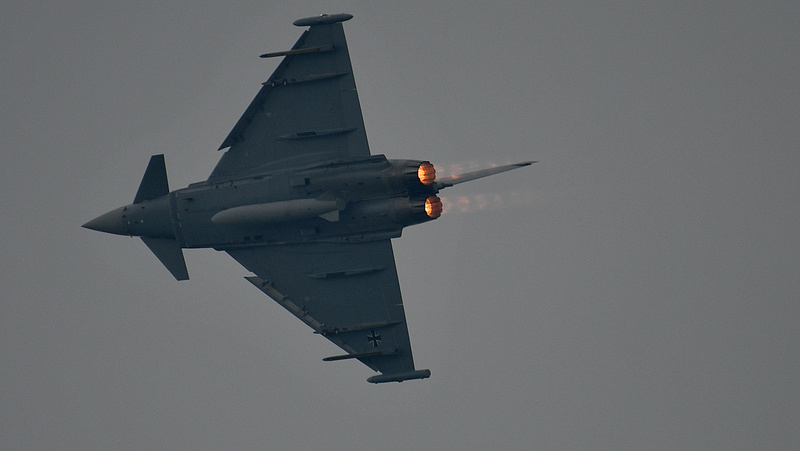 Lezuhant két Eurofighter vadászgép Németországban (frissített)
