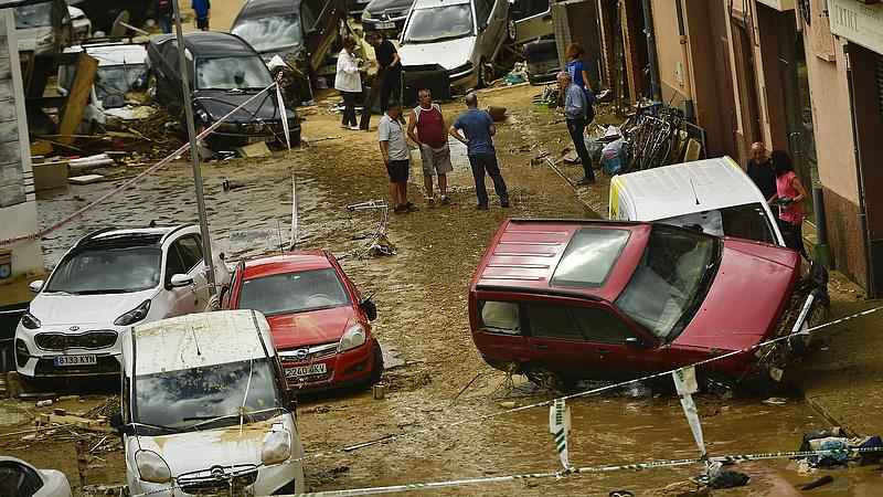 Villámárvíz pusztított Észak-Spanyolországban
