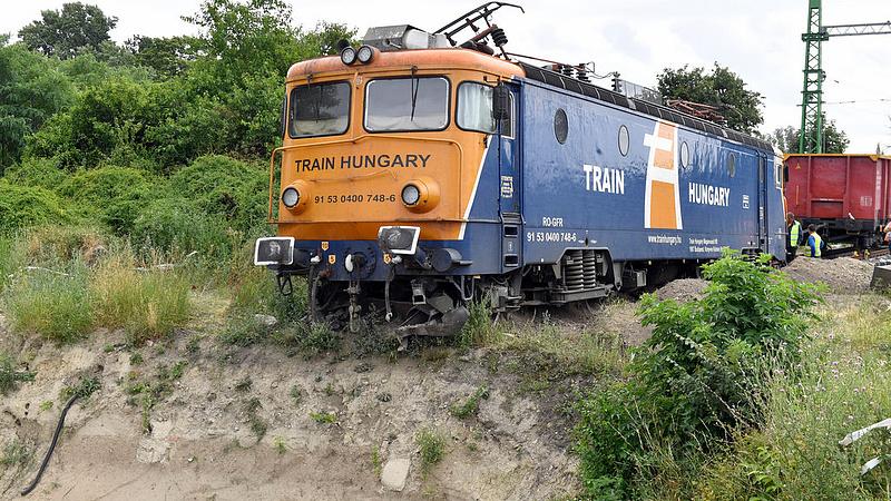 Kisiklott vonat - nagy erőfeszítést igényelt a visszaemelés