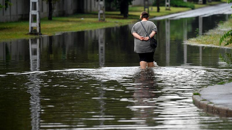Vihar szombaton - sok dolga volt a katasztrófavédelemnek