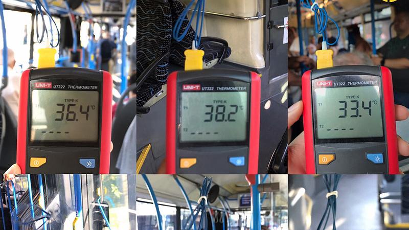 Megfőnek az utasok a buszokon - marhákat is tilos lenne ilyen melegben szállítani