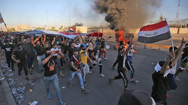 Már száznál is többen haltak meg az iraki tüntetéseken