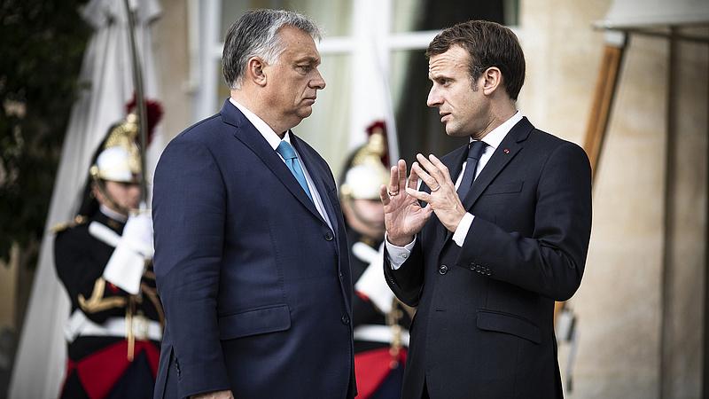 Miről beszélt Macron és Orbán?