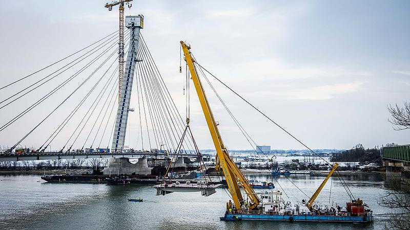 Újabb híd épül a Dunán