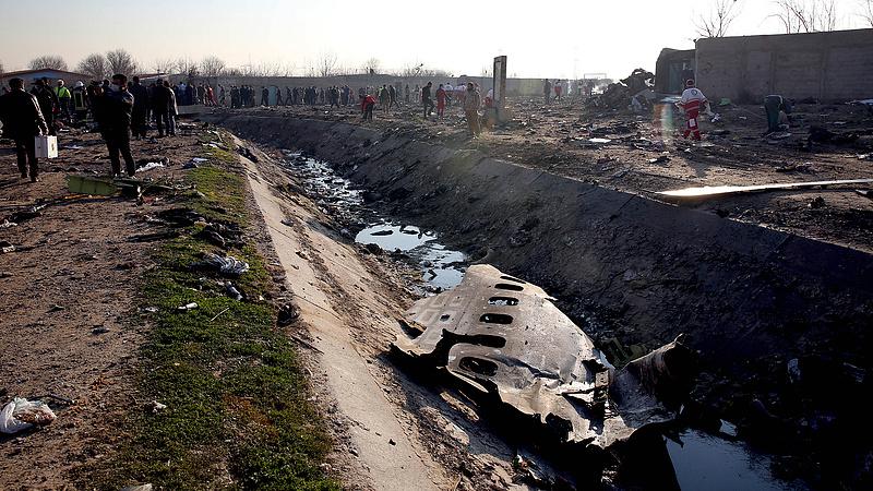 Repülőszerencsétlenség: összeveszett Irán és Ukrajna