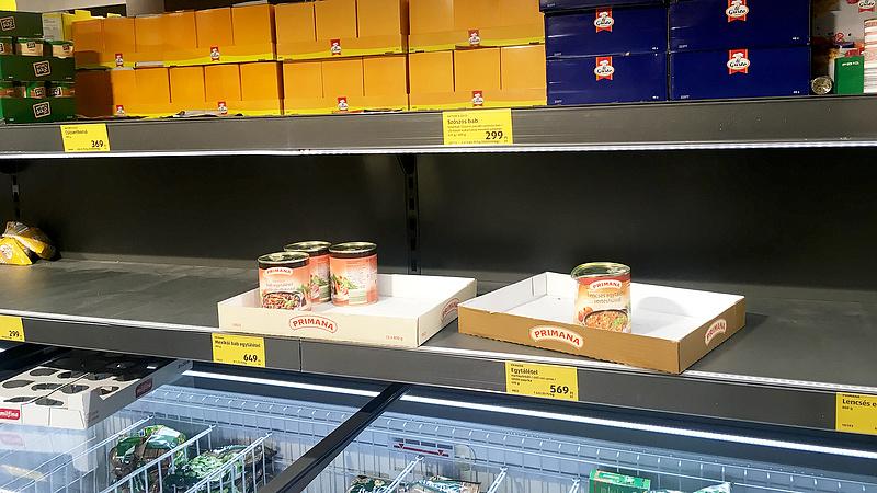 Agrárminiszter: van elég élelmiszer, a csomagolóanyag-hiány gondot okozhat