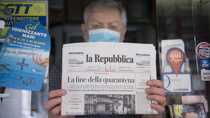 Koronavírus: Olaszországban már több mint egymillió adag oltás adtak be