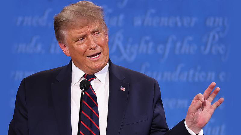 Trump nem titkolja: magára szavazott