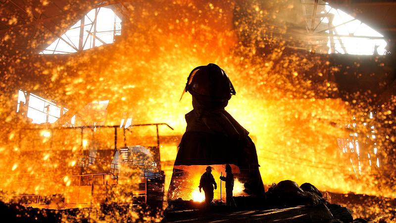 Csökkent a globális acéltermelés