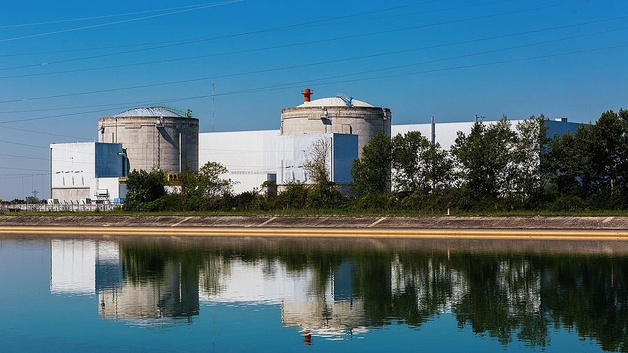 A Fessenheim-i atomerőmű imázsfotója (Németország)