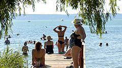 Rendkívüli módon felmelegedett a Balaton