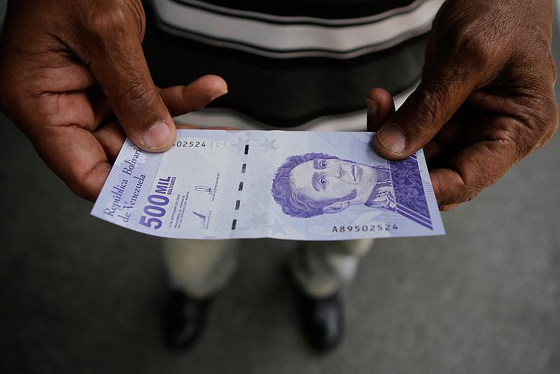 Venezuelában párolog a pénz értéke