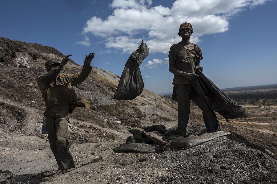 Kobaltbányászok Kongóban.