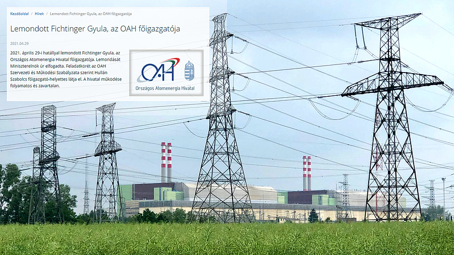 Kishír az OAH honlapján - háttérben a paksi atomerőmű