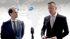 Szijjártó Péter köszönetet mondott a Pfizernek, újabb 3,5 millió dózis érkezik hamarosan