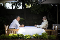 Orbán Viktor a szlovén miniszterelnökkel tárgyalt