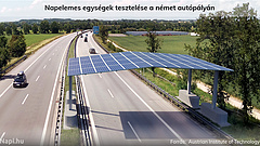 Már építik az autópálya felett átívelő napelemes rendszert