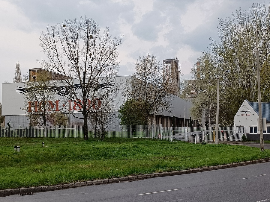 A hejőcsabai cementgyár.