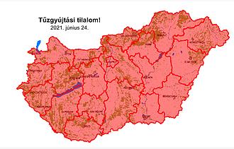 Vörösben egész Magyarország - életbe lépett a tilalom
