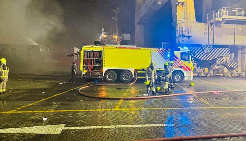 Konténerhajó robbant fel Dubajban, erős lökéshullám rázta meg a várost