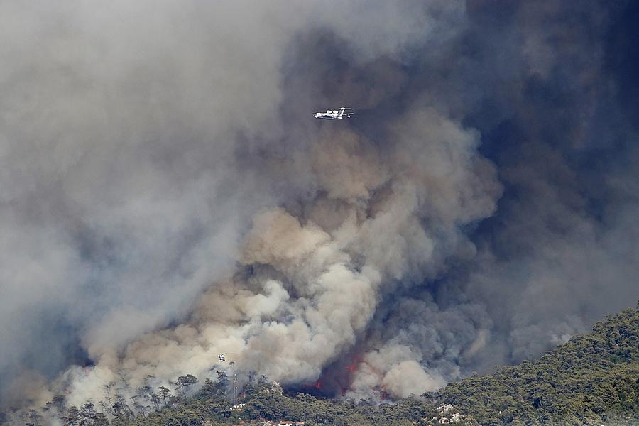 Erdőtűz Törökországban (Getty Images/Caglayan Yurdakul)