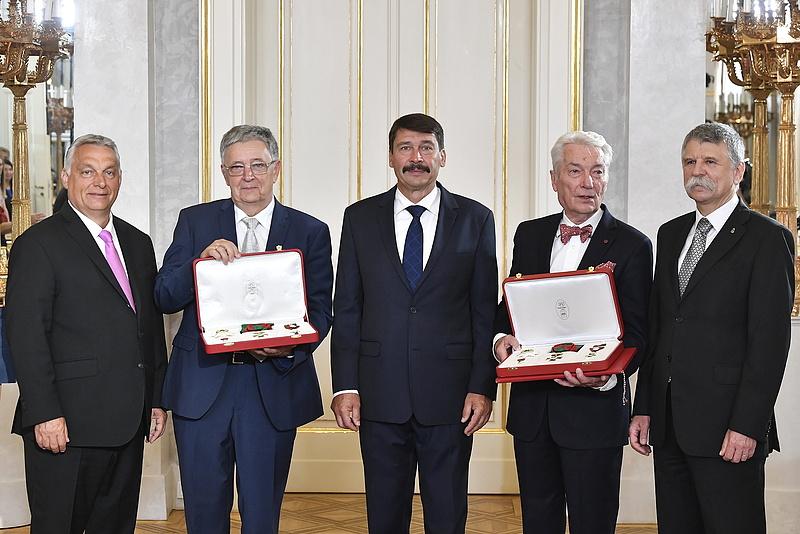 Lovász László és Vízi E. Szilveszter kapták a Szent István Rendet