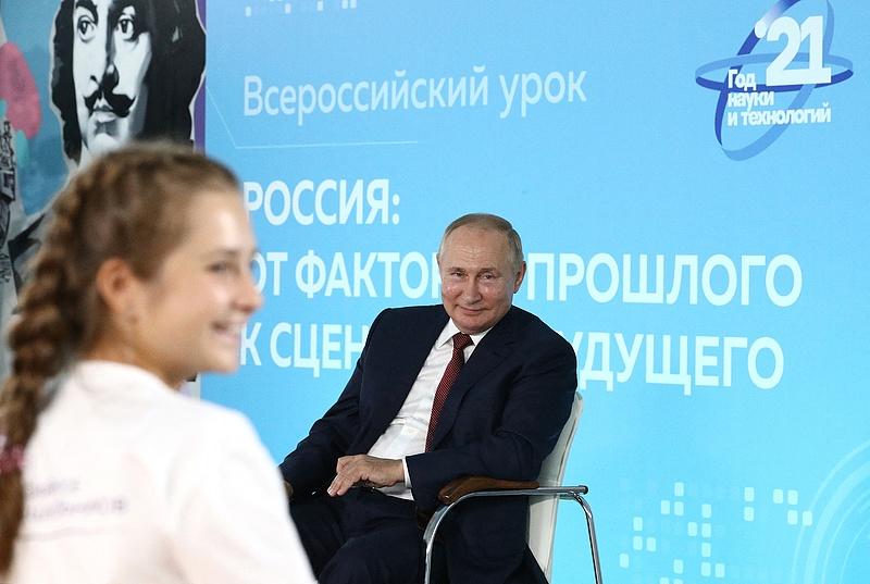 Két kölyök leiskolázta Putyint